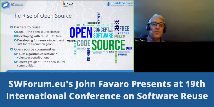 SWForum.eu's John Favaro Presents at 19th International Conference on Software Reuse